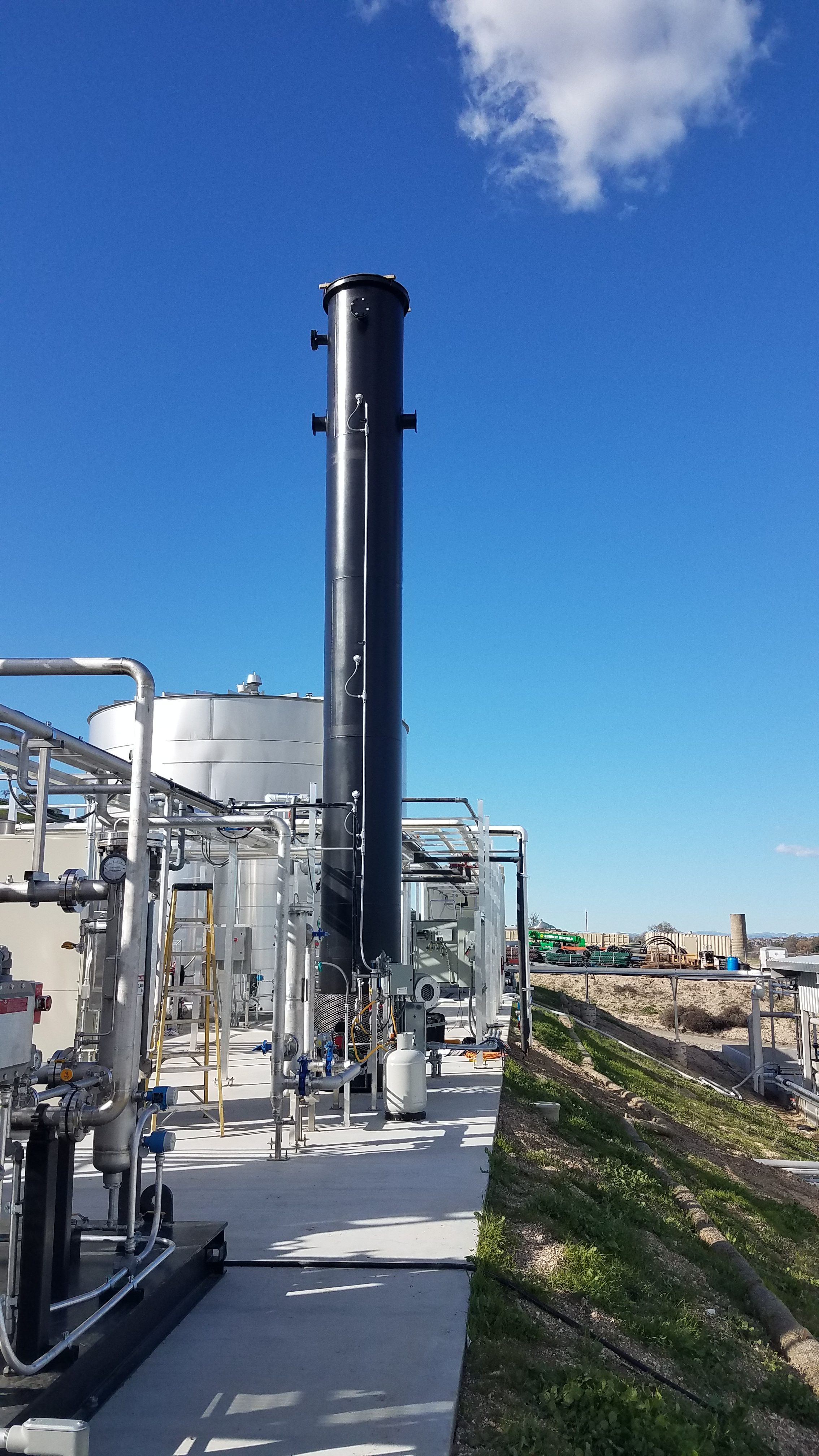 One of our enclosed biogas flare systems